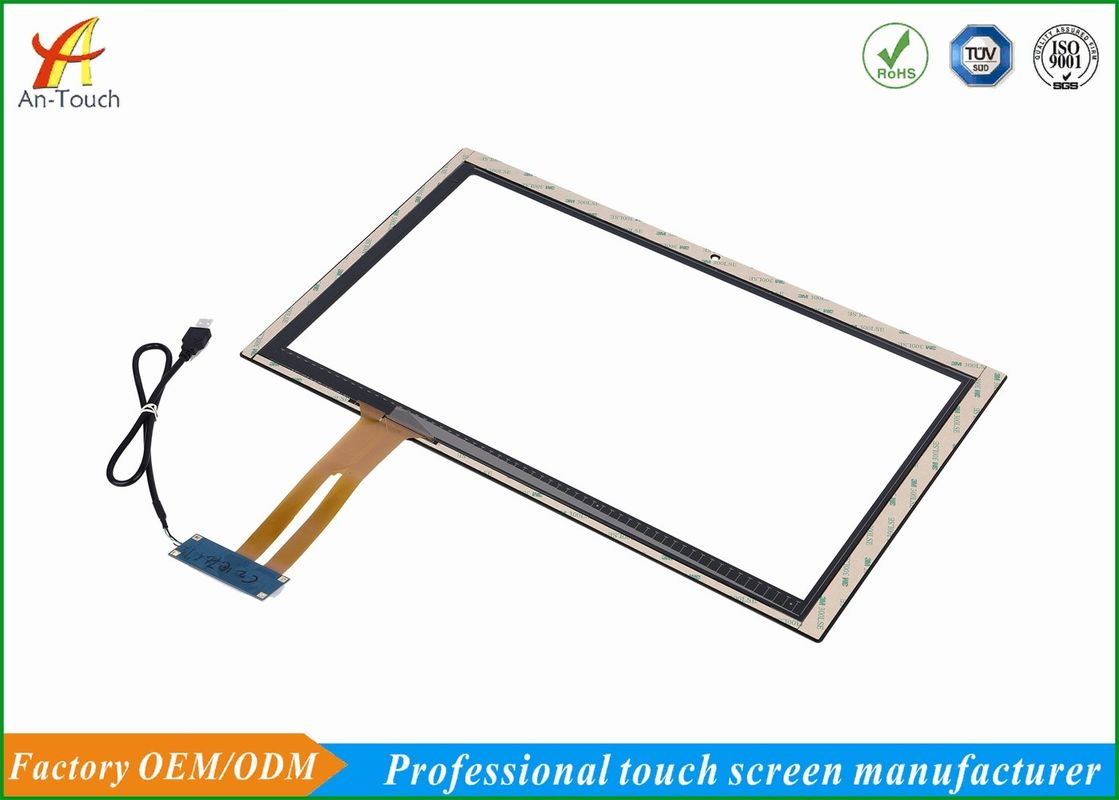 18.5 Inch Capacitive Touch Panel , 10 Point Multi Touch Screen Strong Compatibility