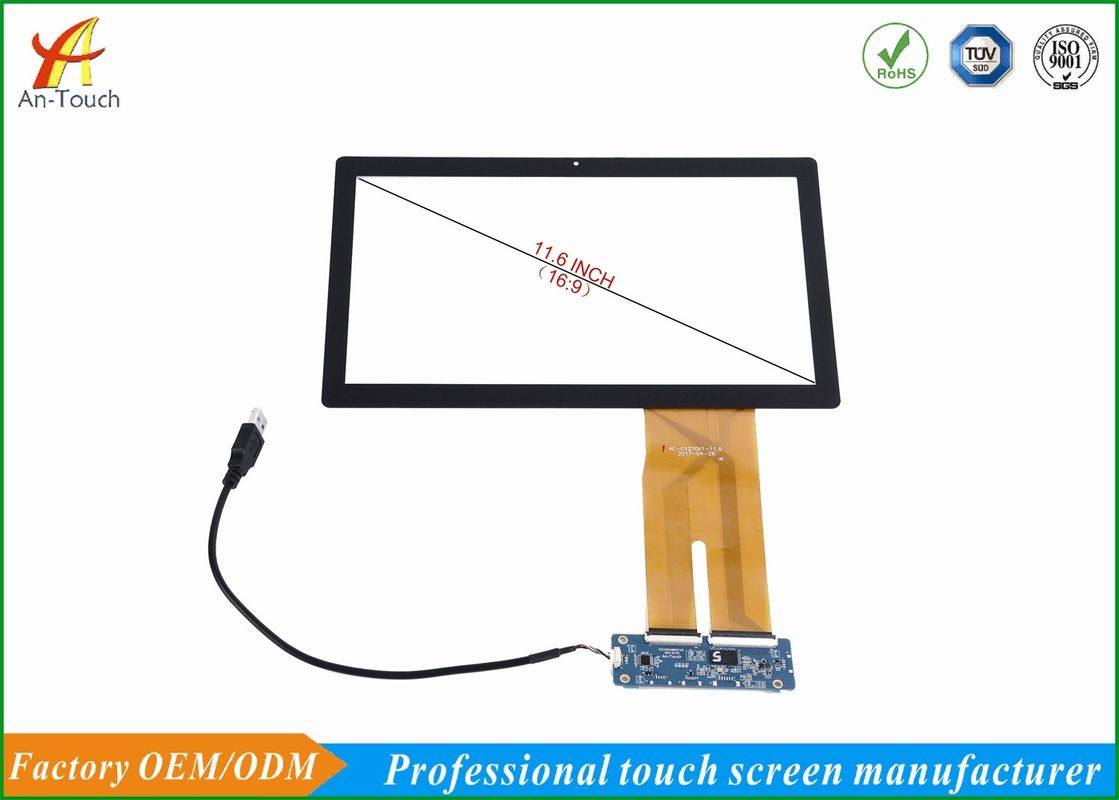 Portable Waterproof Touch Panel For Tablet , 11.6 Inch Multi Touchscreen Display Overlay