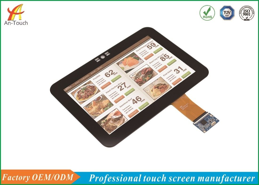 Multi Point LCD CTP Touch Screen , Cover Glass Touch Panel Display 60Hz